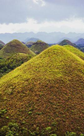 Les Chocolate Hills aux Philippines! Des centaines de collines rondes à perte de vue ou comment avoir l'impression d'être sur une autre planète en voyage!