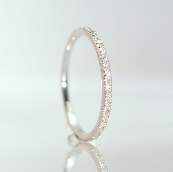 Diamonds wedding band 14K Gold half eternity by AllSapphires
