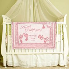 34 best baptism gift ideas for girl personalized handkerchiefs pink baby blanket personalized embroidered custom made in usa makes the perfect baby shower negle Gallery