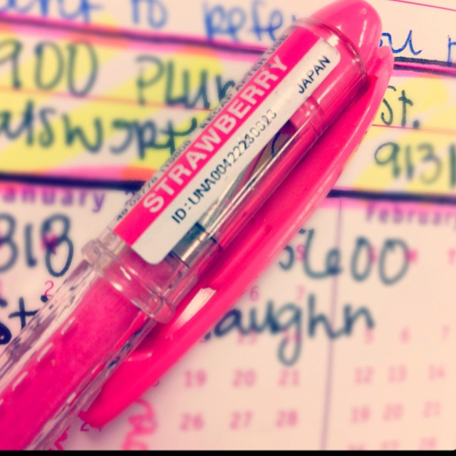 Strawberry scented pen.  http://pinterest.com/j0dyhlee/