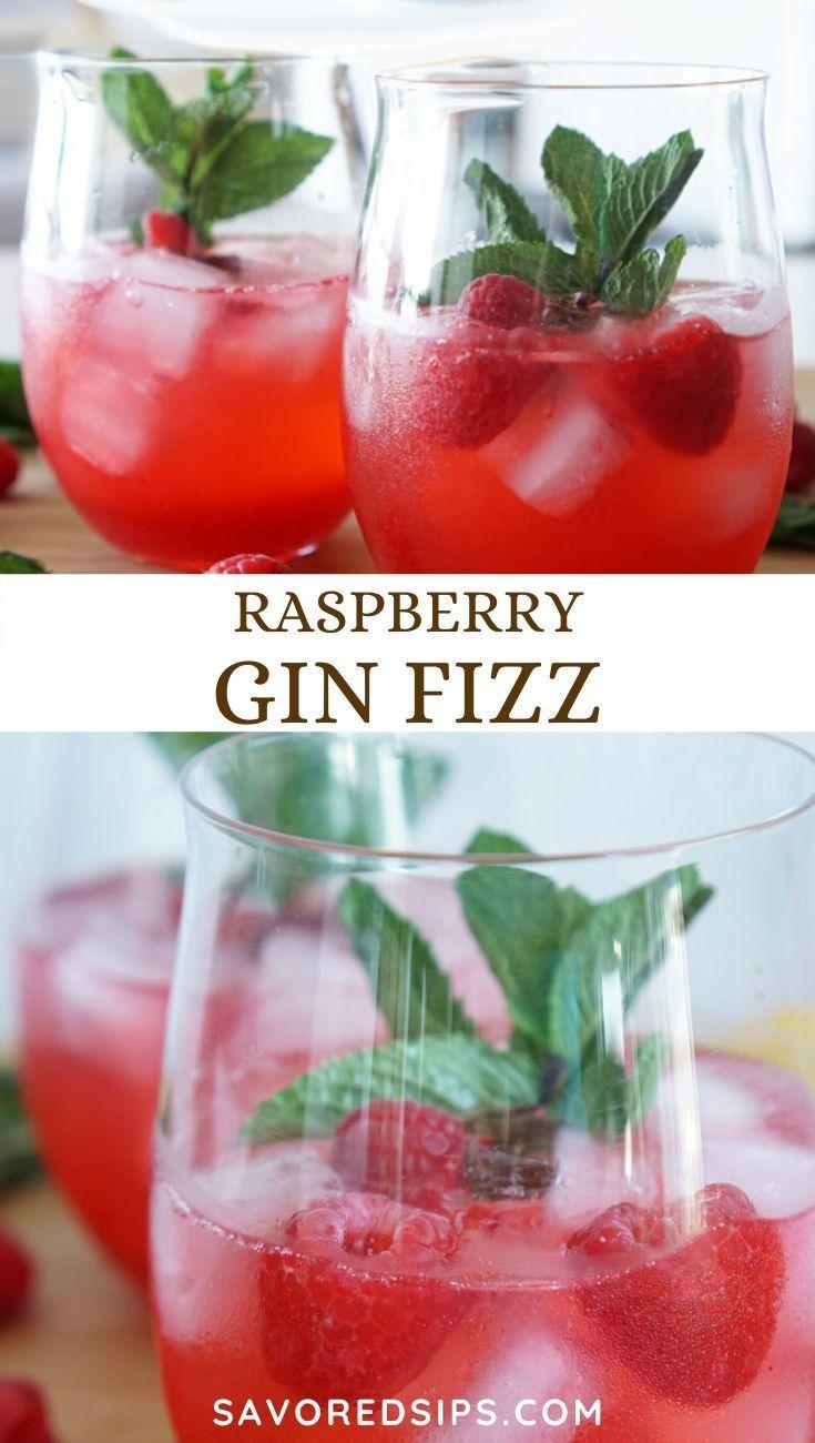 Raspberry Gin Fizz Recipe Raspberry Gin Gin Fizz Recipe Cocktail Recipes Easy