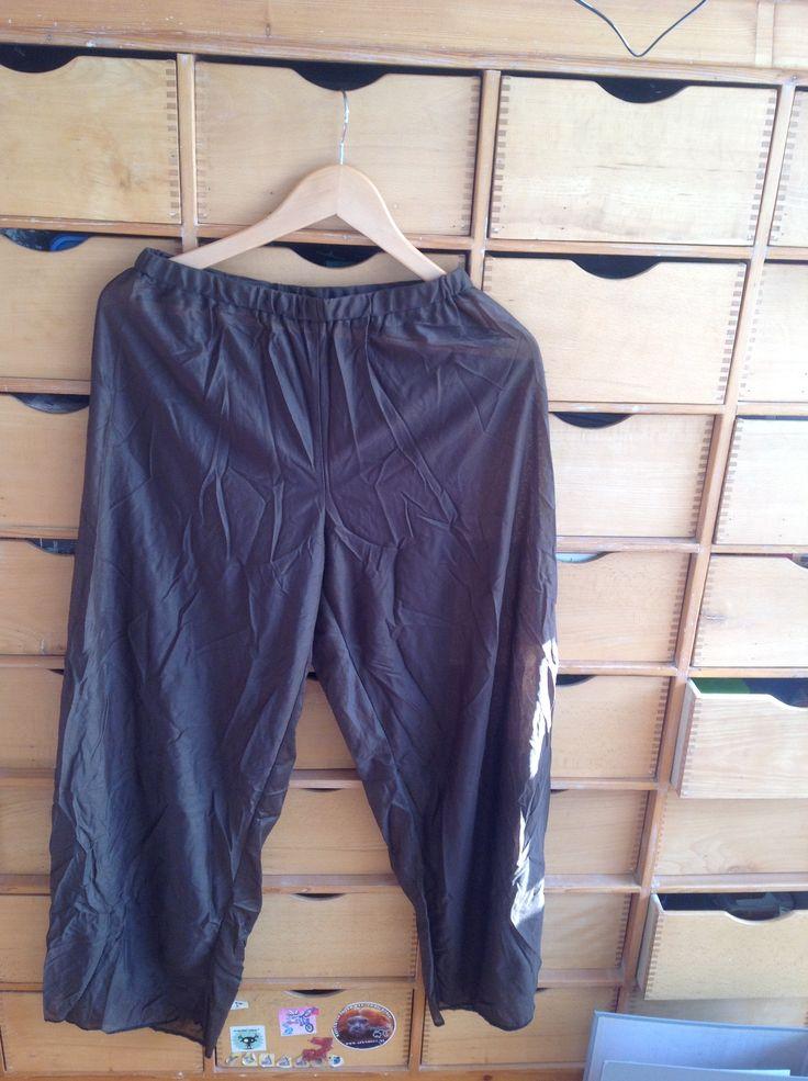 1x bruin-goude doorzichtige broek