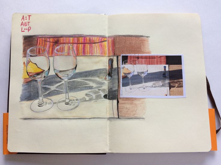 """Drawing from the photo """"two glasses"""" #sketchbook, #drawing, #glasses, #art"""