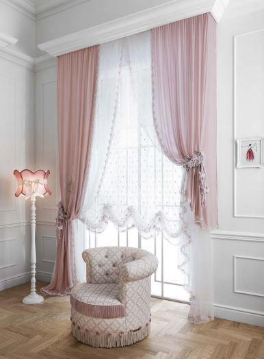 Girls'room home decoration  Luxury Curtains  •Silk •Velvey •Lace   MadeInItaly   Order: ✍dxb@superbiadomus.com