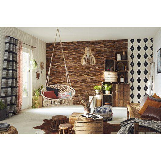 Support tringle à rideau Design, 28 mm chêne INSPIRE