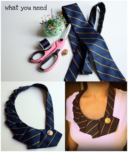 Luce lindos cuellos hechos con corbatas ¡utiliza la creatividad!...