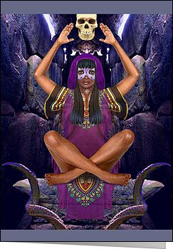 Oya Goddess of Darkness, The Wind and The Dead