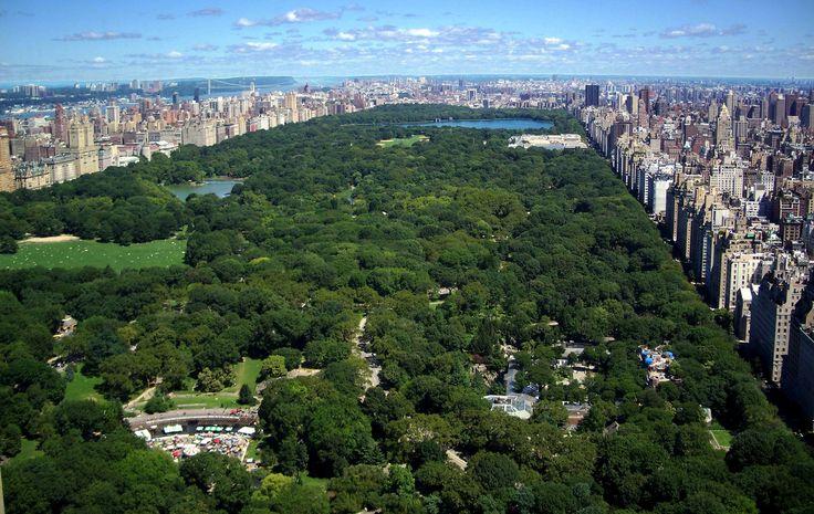 Het uitzicht dat de zus van Julia had vanuit haar kantoor in New York.