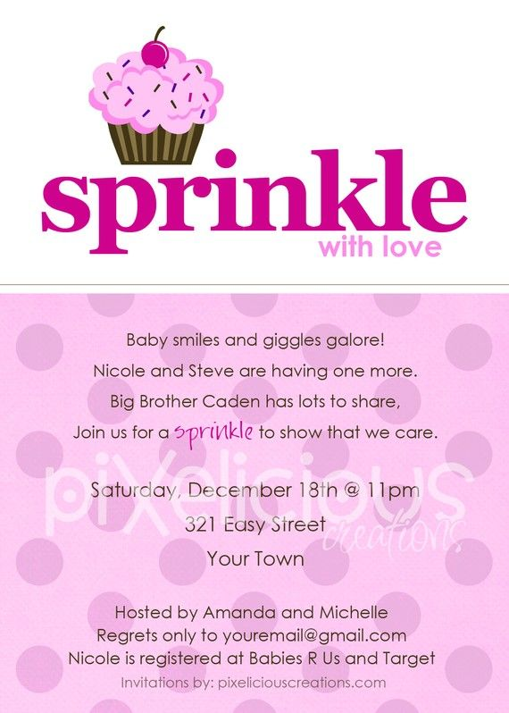 17 best images about sprinkle baby shower on pinterest | sprinkles, Baby shower invitations