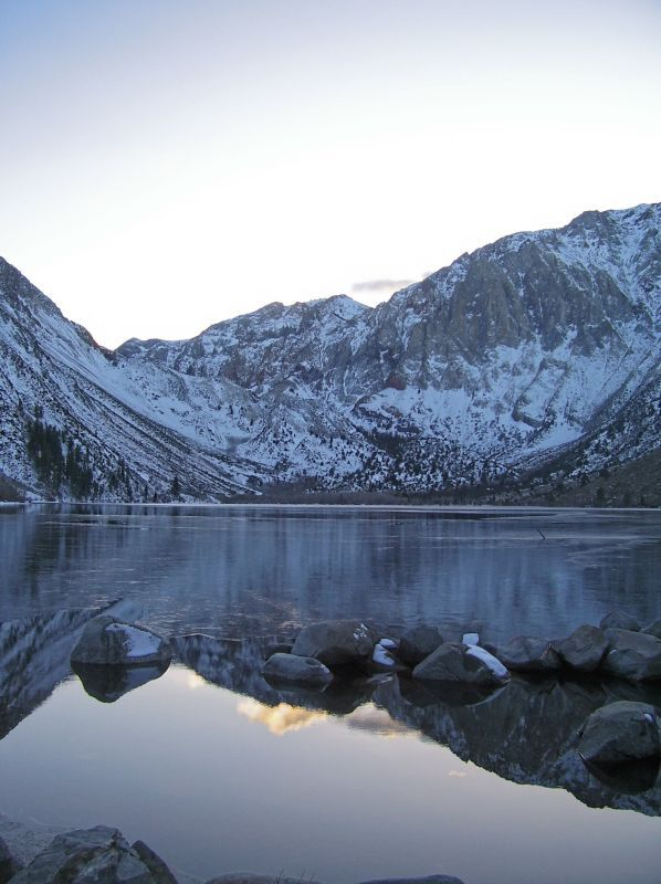 Reflection of the Eastern Sierra Nevadas over Convict Lake in California. visit http://www.reservationresources.com/