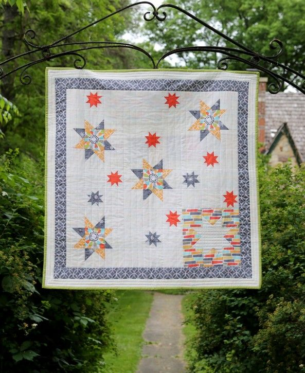 Michael Miller Fabrics Challenge Quilt. www.thecottagemama.com