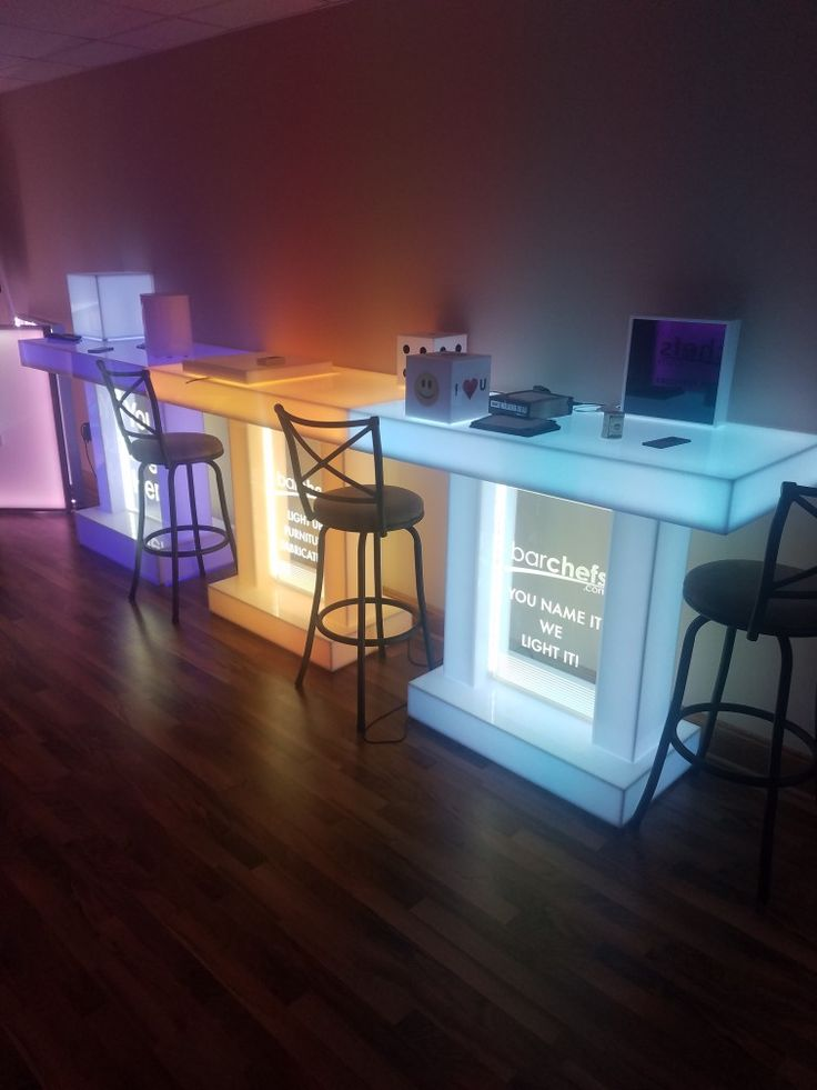 Branded Twin Column Led Tables From Www.barchefs.com