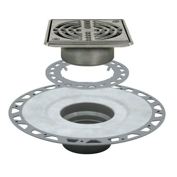 Schluter Kerdi Drain Kit 6 Square Stainless Steel Grate Pvc Flange With 3 Drain Outlet Qty:10