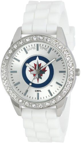 Game Time Women's NHL-FRO-WIN Frost NHL Series Winnipeg Jets 3-Hand Analog Watch Game Time http://www.amazon.ca/dp/B00EVX9LZM/ref=cm_sw_r_pi_dp_JY3bvb0STDWKV