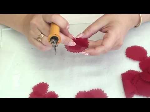 Объемные цветы в технике гильоширования. В конце - сюрприз! - YouTube