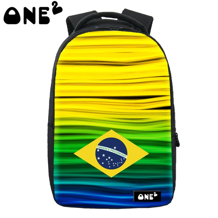 2016 ONE2 Design cheap Flag of Brazil laptop bag waterproof computer camel active amazing leisure backpack
