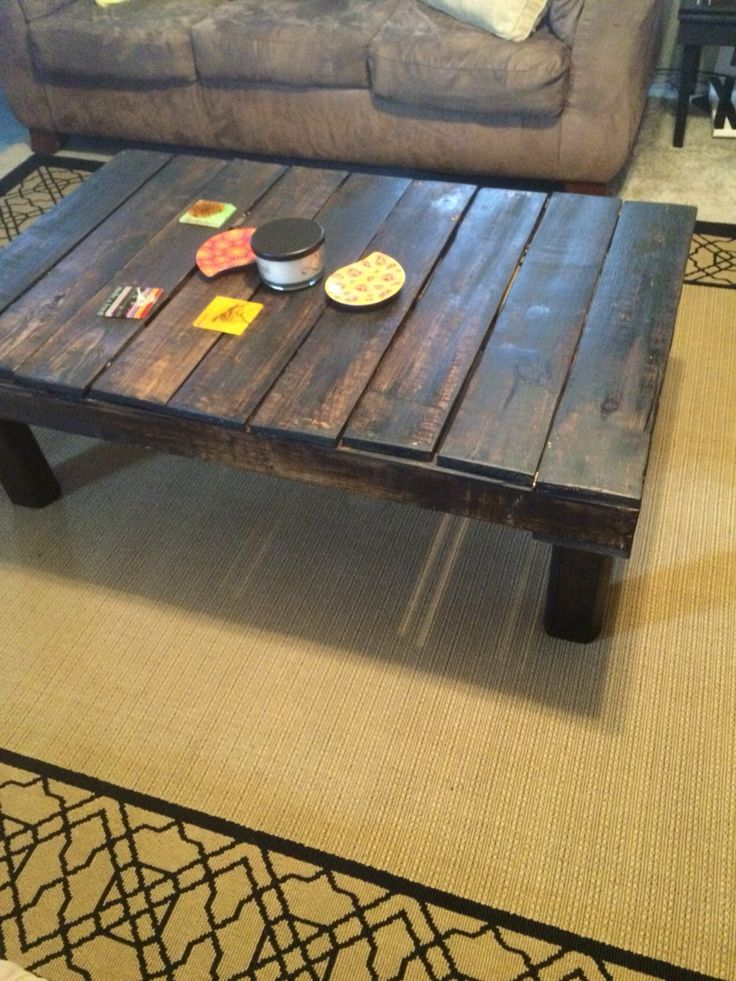 Diy Pallet Coffee Table I Did It Pinterest Diy And