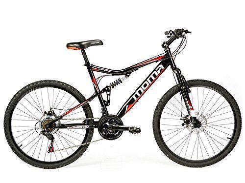 """Moma - Bicicleta Montaña Mountainbike 26"""" BTT SHIMANO, doble disco y doble suspensión"""