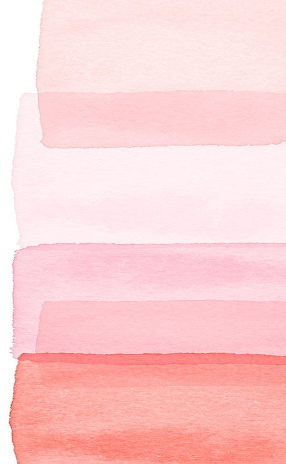 Pink Abstract Art Watercolor Painting Blush Rose Peach Minimalist