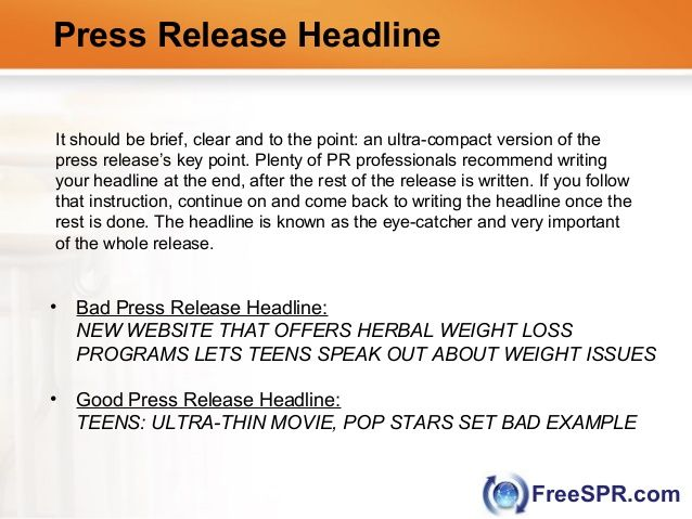 Press Release Headline Professional Release Writers Pinterest - press release template sample