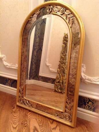 зеркало в стиле барокко рококо патинированное золотом Киев - изображение 1