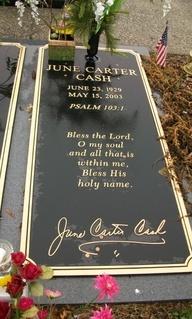 June Carter Cash...famous tombstones - Google Search
