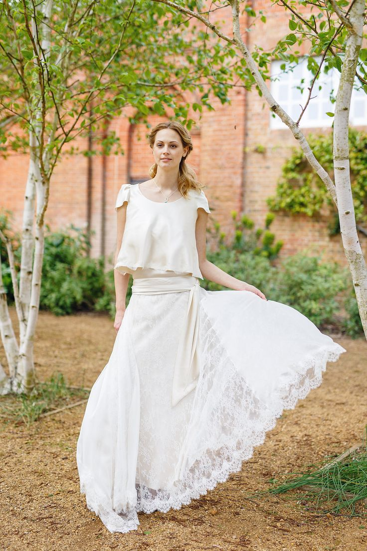 Lovely alternative style Boho wedding dress skirt and jacket