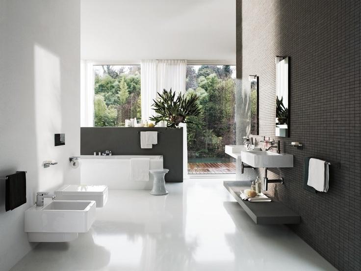 LAUFEN living city wastafels geven de living by LAUFEN badkamer een stedelijke…