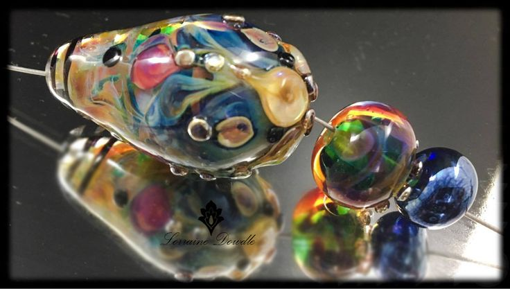 Lorraine Dowdle - Focal Accent Lampwork Beads set