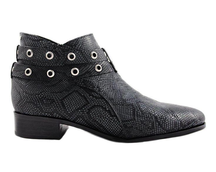 Cartel Footwear AW16 Double Strap Bootie - Salto Python