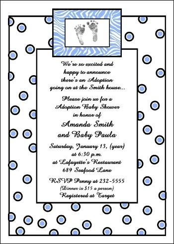 Sample adoption shower invite