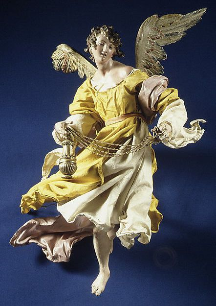Angel, Attributed to Giuseppe Sanmartino (Italian, 1720–1793). This artwork is part of Christmas Tree and Neapolitan Baroque Crèche at the Metropolitan Museum of Art.
