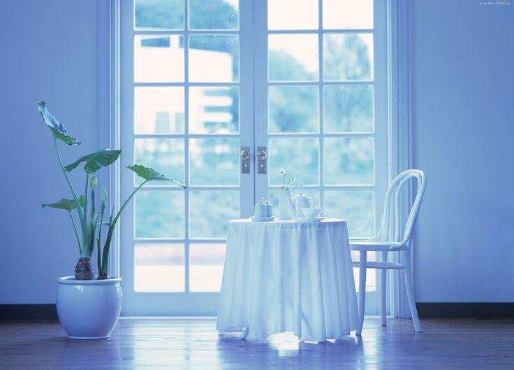Okno, Stół, Krzesło
