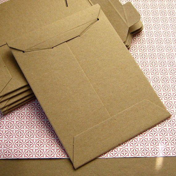 25 Stay Flat Rigid Mailer Kraft Shipping Envelopes 6 x 8 inches. $8.50, via Etsy.