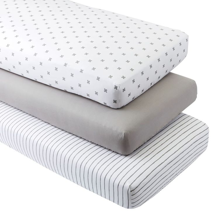 Shop Organic Iconic Grey X Crib Fitted Sheets (Set of 3).  Our Iconic Grey X Crib Fitted Sheets set includes three coordinated, 100% organic cotton crib sheets that are as comfy as they come.