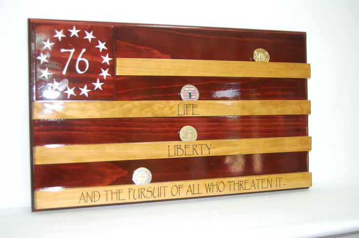how to make a challenge coin display | COLONIAL AMERICAN FLAG CHALLENGE COIN HOLDER