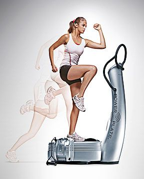 Why PowerPlate?  The PowerPlate uses rapid vibration to contract muscle fibers 25-50 times per second. This can be great for: -Ridding cellulite -Warming Up before workouts -Stretch/Massage after workouts -Enhanced strength training