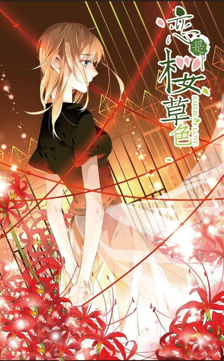 cherry blossom Pasangan manga, Ilustrasi karakter, Warna