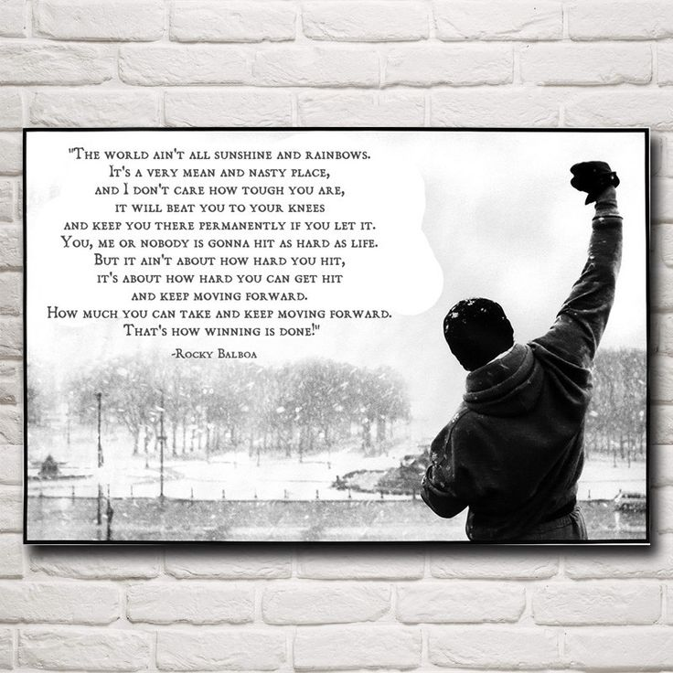 Octo Treasures is where artists, photographers, and commercial decorators go when they want their most important work printed and their most important spaces decorated.  Start creating your own customized wall art click the link for more info https://www.octotreasure.com  Style Your Home Today With This Amazing Rocky Balboa:Best Boxing Motivational Quotes Silk Fabric Poster Home Decor Pictures 12x18 16X24 20x30 24x36 Inches Free Shipping For $12.00