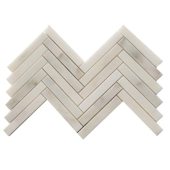 1 X 6 Marble Herringbone Mosaic Tile In Calacatta Calacatta Oro Herringbone Mosaic Tile Mosaic Tiles