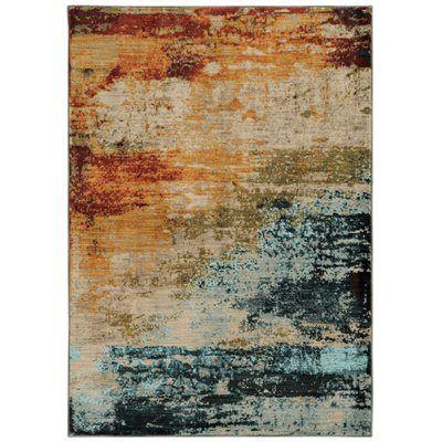 Oriental Weavers of America Cascade Sedona Rectangular Multicolor Area Rug