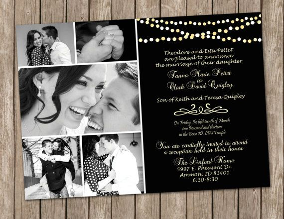 Night sky with string of lights Wedding by MissBlissInvitations, $15.00