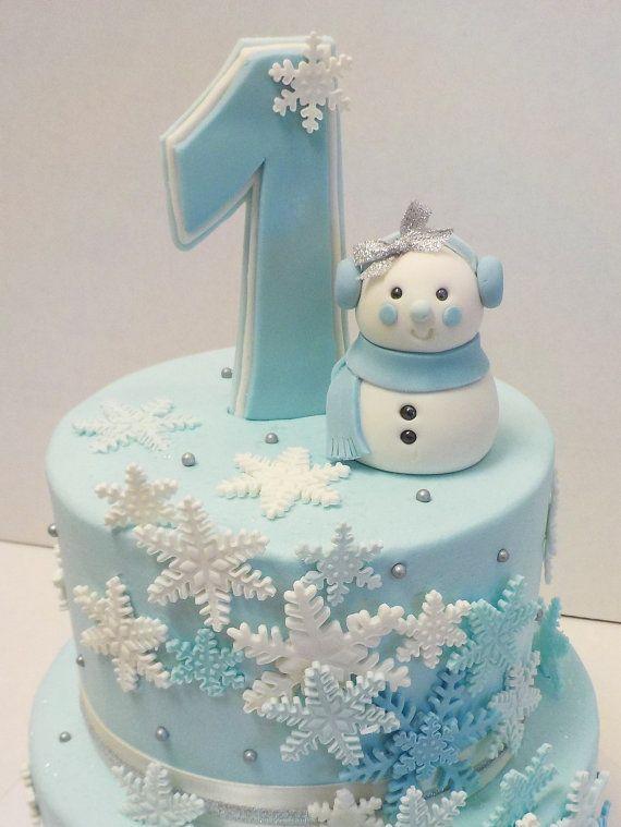 Fondant Snowman Snowgirl With Earmuffs Wonder Winter 1st