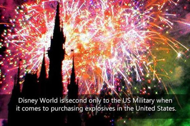 Some Interesting Facts About Disney Parks. Disney World is 2nd in the world for buying explosives!