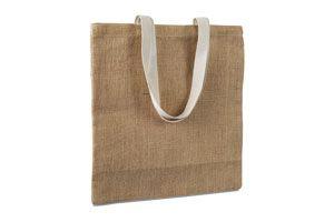 Bolsa de la compra realizada en yute con asas de algodón