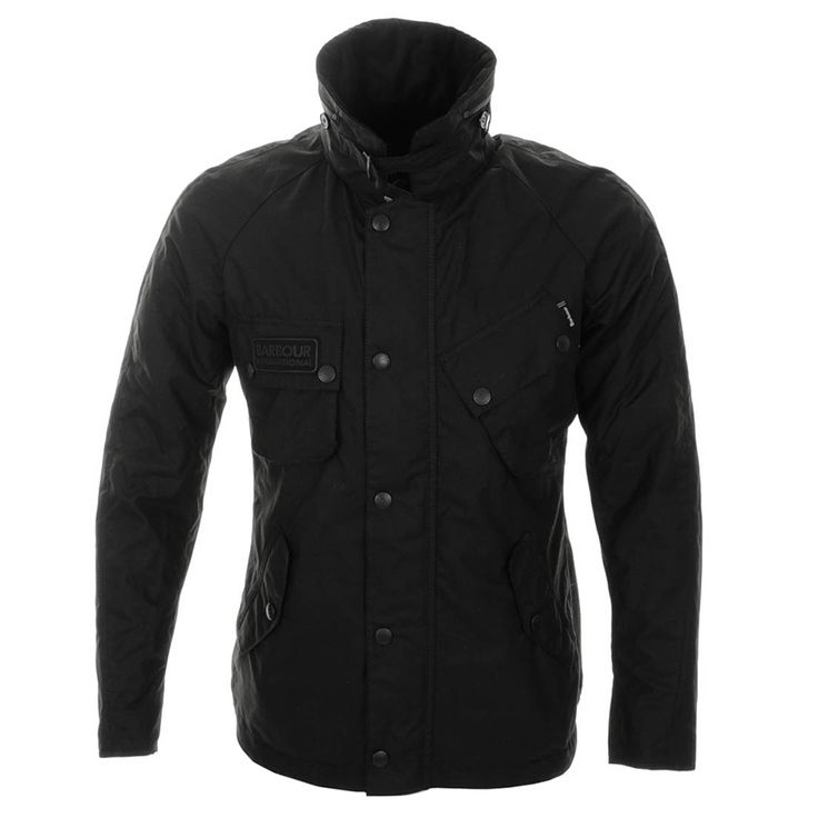 Barbour International Jackets / Coats > Barbour Apollo Waxed Jacket Black > Barbour Jackets | Barbour International Coats Jackets | Mainline Menswear Official Stockists Of All Barbour Mens Designer Jackets Outewear Online UK Next Day Delivery