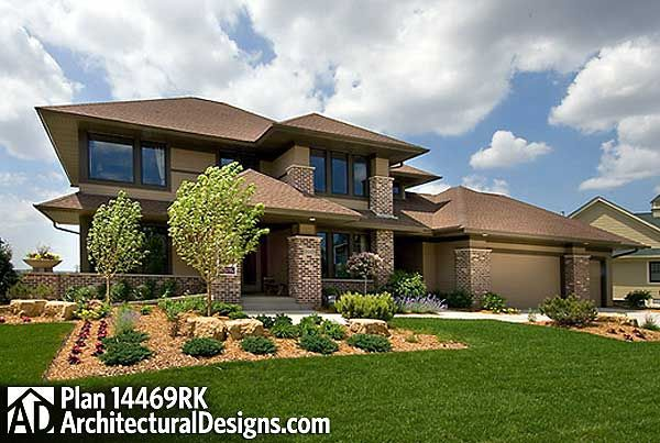 Plan w14469rk premium collection contemporary photo for Modern prairie house plans