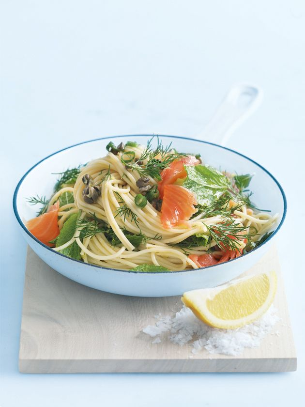 lemon and dill smoked salmon pasta
