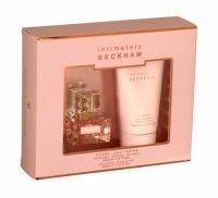 """Beckham Intimately Her Edt Gift Set Intimately Beckham Gift Set for women is described as an """"essence of Victoria known only to the people closest to her"""". The scent opens with notes of bergamot and rose petals, blending with a heart of Casablanca lily, tuberose and orange blossom, rounded off with a base of vanilla, sandalwood and musk. Gift Set includes: Eau De Toilette 30ml and Body Lotion 150ml"""
