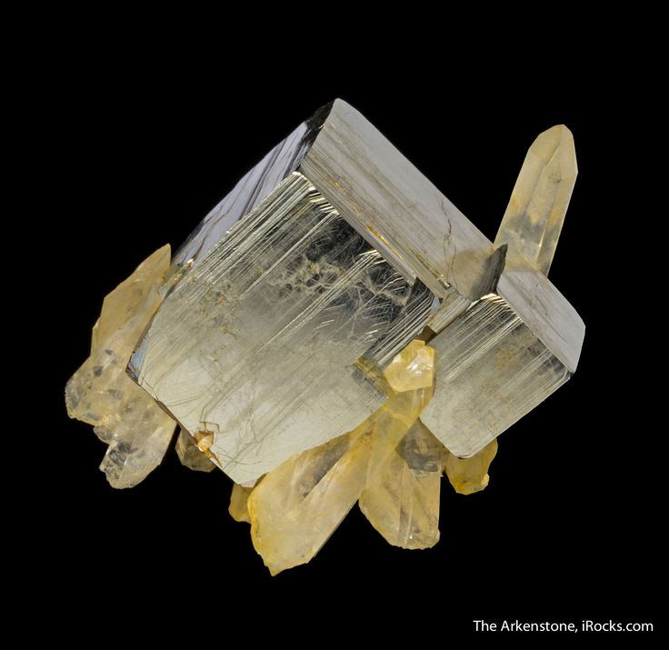Pyrite with Quartz, Spruce Claim, Goldmyer Hot Springs, King County, Washington, USA, Small Cabinet, 7.5 x 5.1 x 4.1 cm, Washington pyrites with their amazing striations and patterning, in association with quartz, are simply among the best in the world for collectors., For sale from The Arkenstone, www.iRocks.com. For more details on this piece and others, visit http://www.irocks.com/minerals/specimen/45413